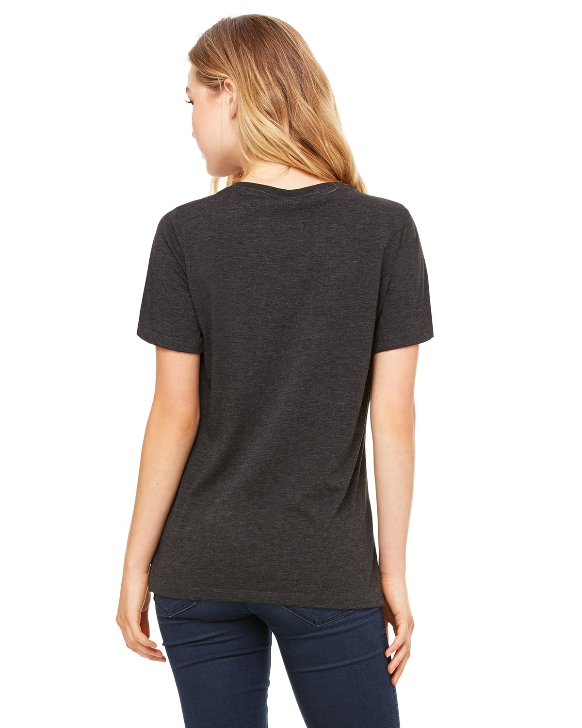 Bella Canvas Relaxed Jersey V-Neck T-Shirt_Charcoal-Black Triblend_XX-Large