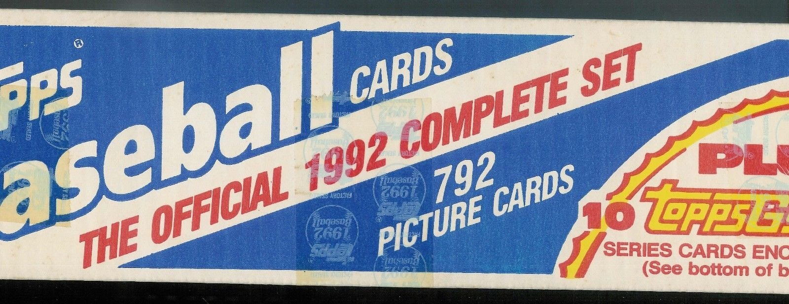 Topps 1992 Baseball Complete Factory Set 792
