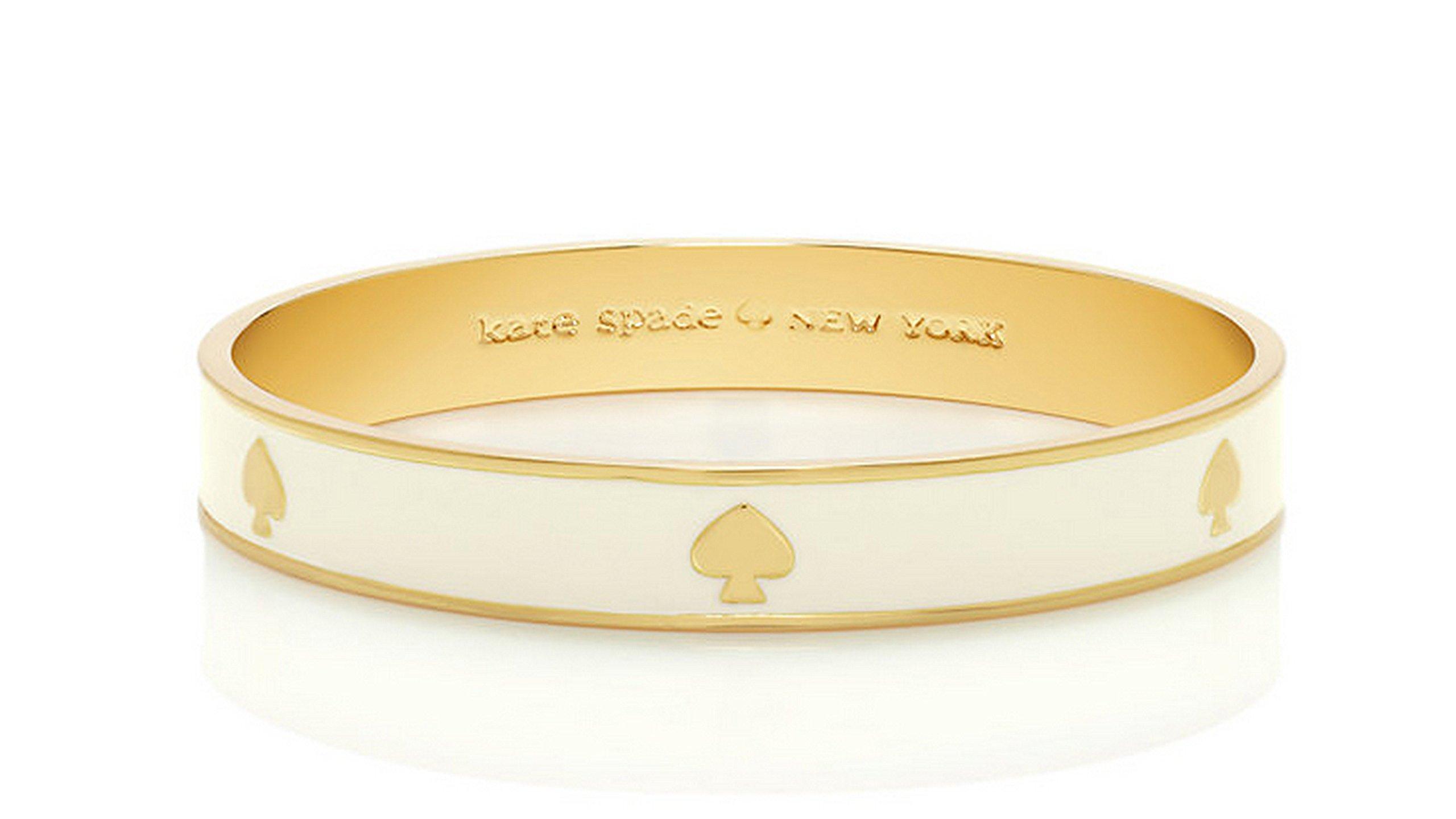 Kate Spade New York Spade Bangle Bracelet, Cream