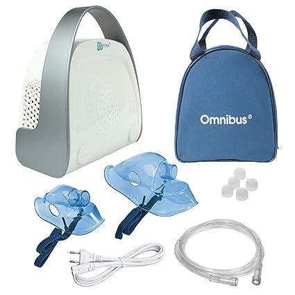 Omnibus Premium BR-CN151 Nuevo inhalador Inhalador compacto resistente compresor (Blanco)