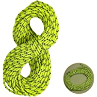 Reflective Nylon Cord,Tent Guyline Rope for Camping Tent,Outdoor Packaging,2.5MM 50 Feet Cord