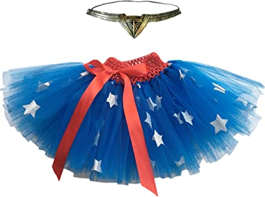 Pretty Choice Baby Supergirl Costume for Girls Blue Tutu Toddler Halloween Outfits