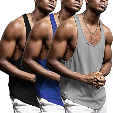 Details about  /GYM TANK TOP men sleeveless Fitness shirt Bodybuilding workout cotton vest