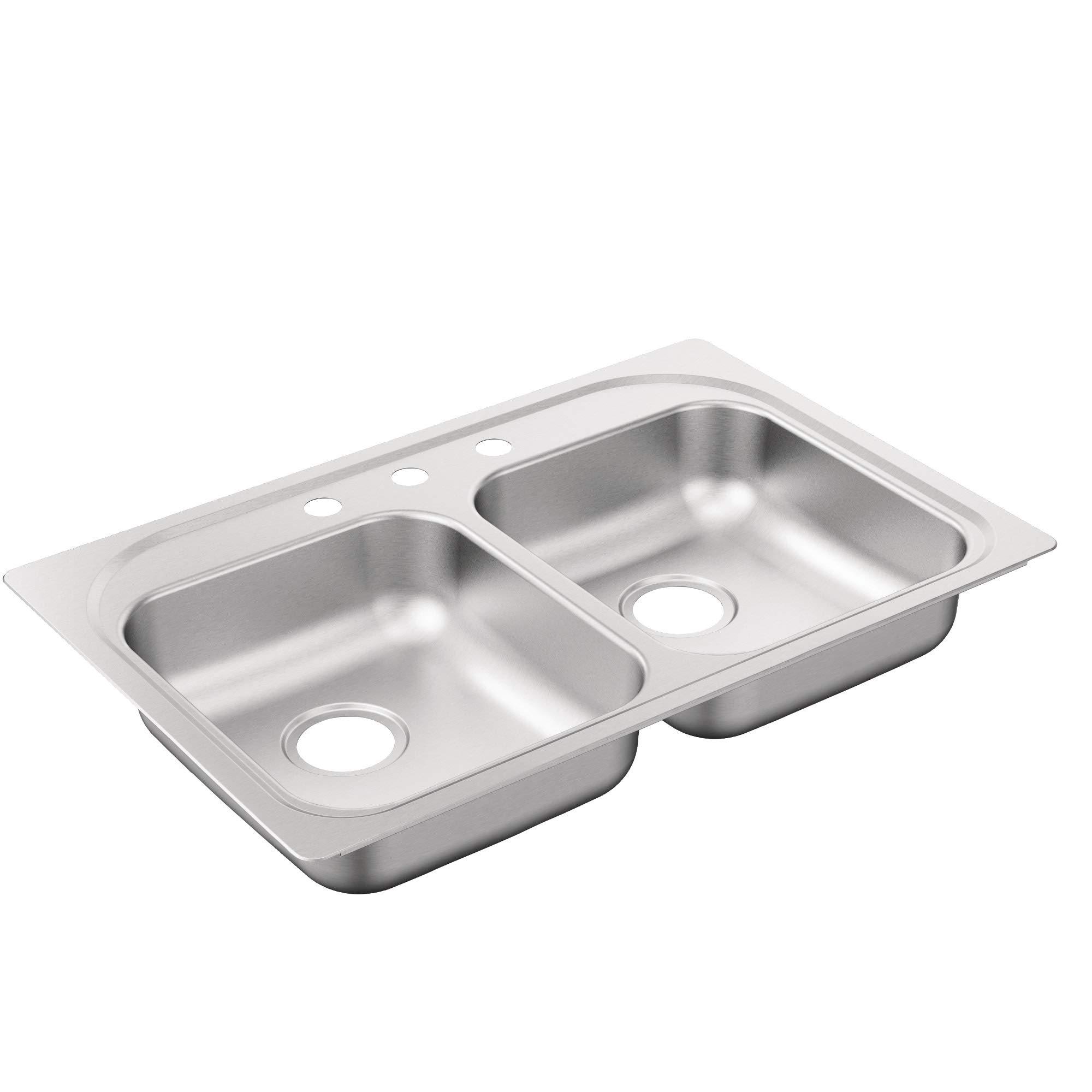 Moen G222203B 2200 Series Sink Brushed/Satin Stainless