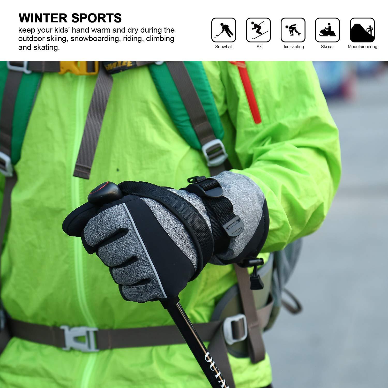 3M Thinsulate Guantes de esqu/í para Mujer c/álidos a Prueba de Viento y Transpirables para Deportes de Invierno al Aire Libre Andake Guantes de esqu/í de Invierno Impermeables