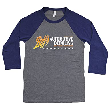 Back To The Future: Biffs Automotive Detailing Unisex 3/4 Sleeve Baseball T-shirt 1Ir4ZQulwt
