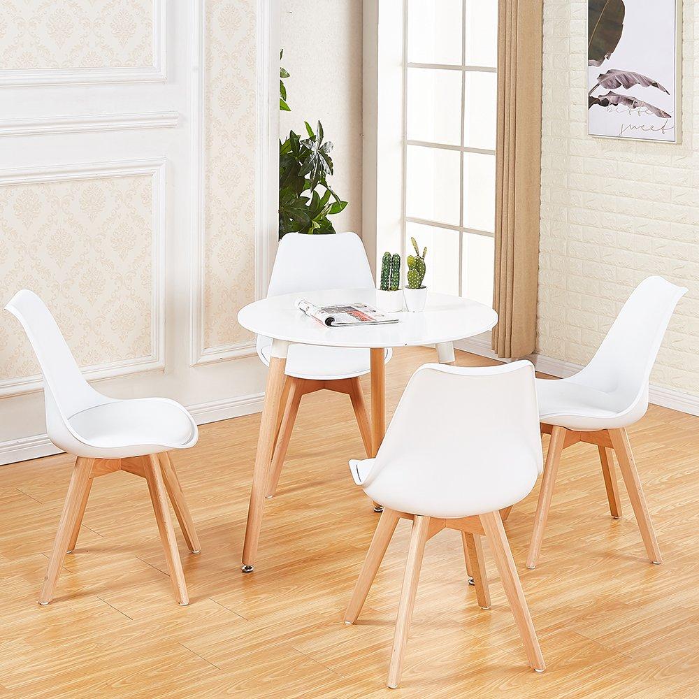 Runder Esstisch Und 4 Stühle Eingestellt Couchtisch Büro