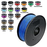 TIANSE Imprimante 3D Filament PLA 1.75mm 1KG, Bleu