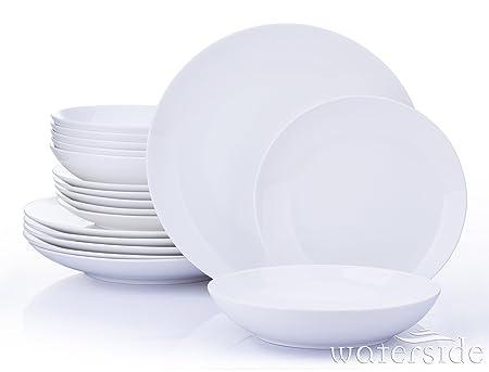 18 Piece Dorchester White Fine China Dinner Set  sc 1 st  Amazon UK & 18 Piece Dorchester White Fine China Dinner Set: Amazon.co.uk ...