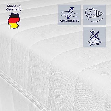 Doppeltuchbezug 65 x 120 cm Kaltschaummatratze mit Liegezonen und pflegeleichtem Matratzenbezug H2/&H3 Mister Sandman schadstofffreie 7-Zonen-Matratze f/ür gesunden Schlaf H/öhe 15cm H2/&H3