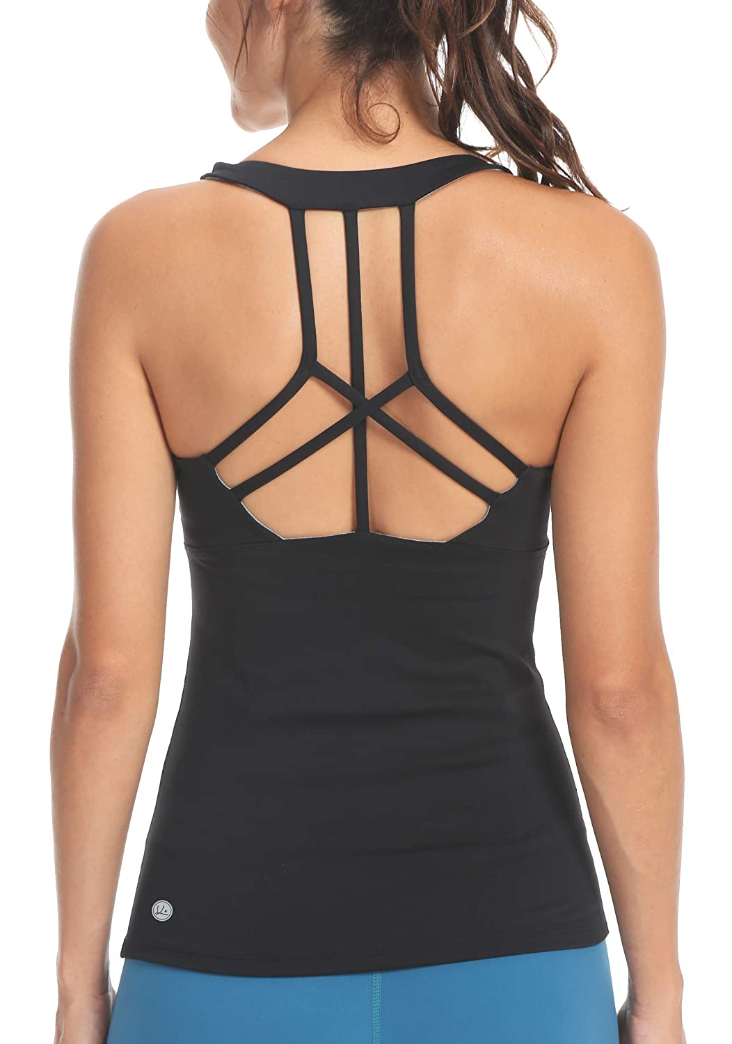 2daf85eb37 Amazon.com  Queenie Ke Womens Yoga Tops Workouts Clothes Tank Strappy Back Sport  Tank Tops  Clothing