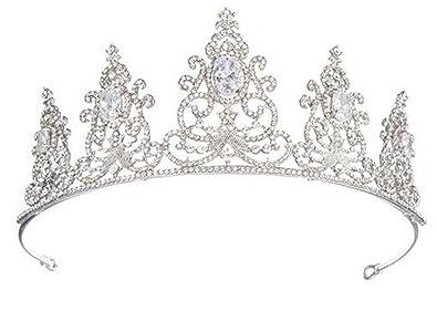 Amazon Com Wiipu Luxury Hair Accessories Queen Pageant Prom Zircon