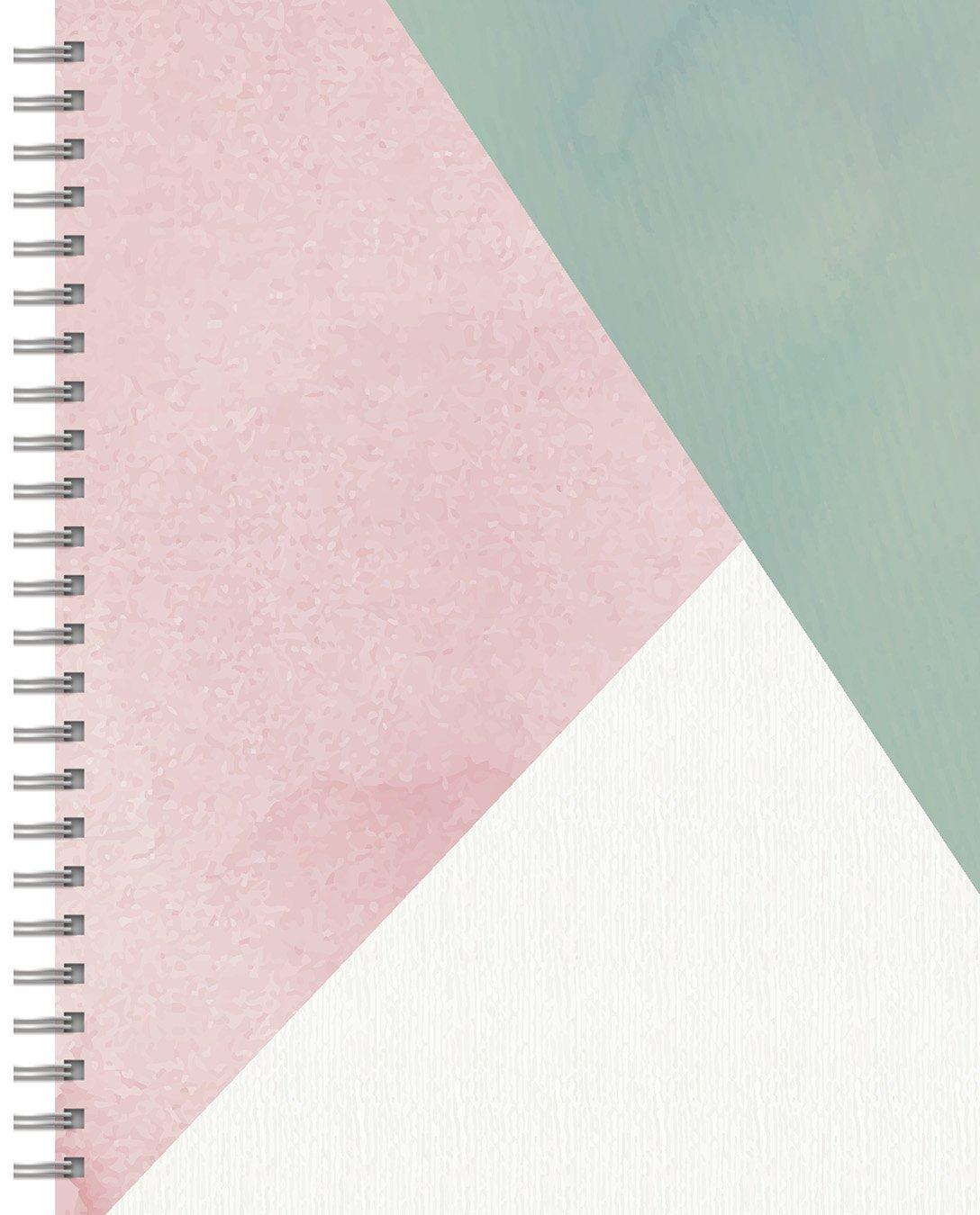 blush diagonal spiral lined journal