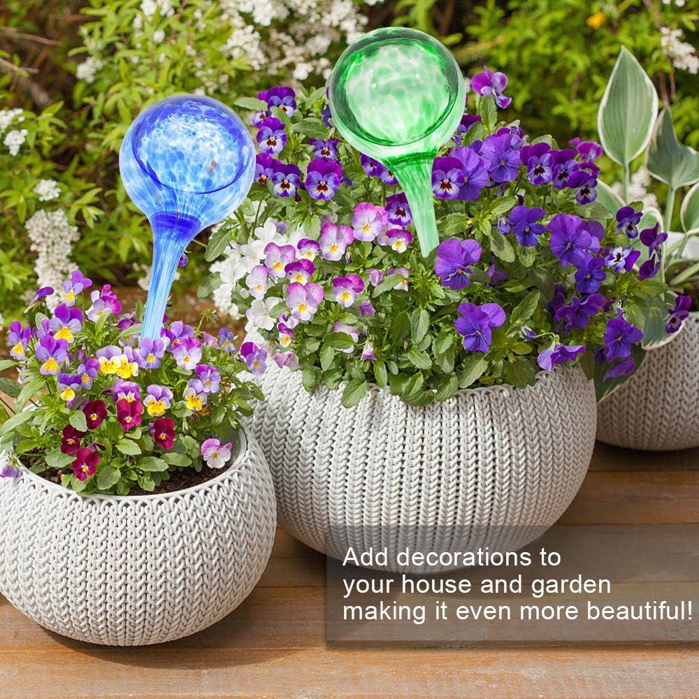 FEEMIC Indoor Plant Watering Globes Automatic Self Water Bulbs Aqua Water Globe Decorative Hand-Blown Glass