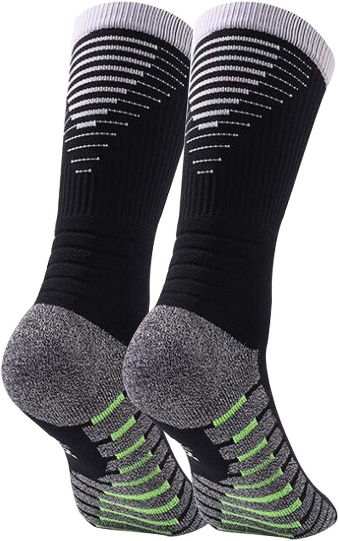 1//5 Pairs Moisture Control Manbozix Mens Socks Breathable Sport Socks Football Socks Non-Slip Unisex Trainer Socks 5.5-9.5