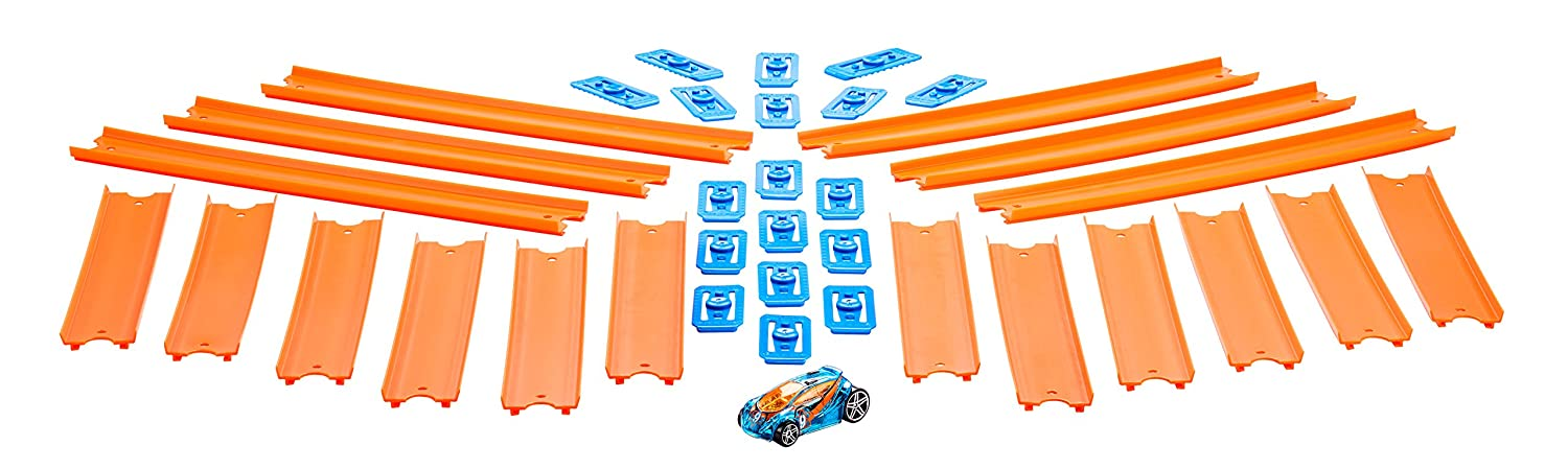 Hot Wheels Track Builder Straight Track with Car Mattel BHT77
