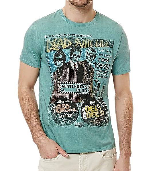 2a9f9df214c998 Buffalo David Bitton Mens Cotton Short Sleeve Graphic Tee Green XL at  Amazon Men's Clothing store: