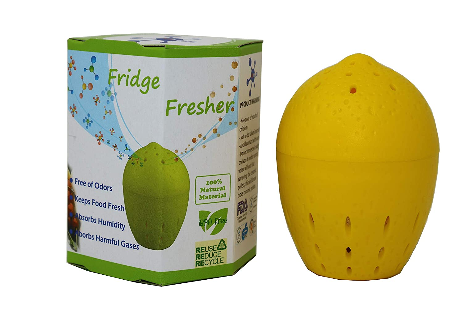 Refrigerator Deodorizer Plus Food & Produce Saver, Last up to 3 yrs - Fridge Deodorizer with Ethylene gas, Odor & Humidity Absorber - Fruits and Vegetable Saver & Fresh Longer - ACHub, 1 pk