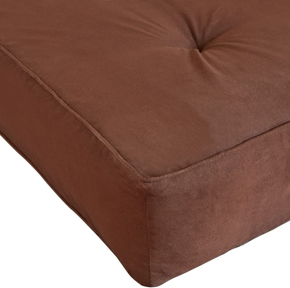 Classic Brands Classic 8-Inch Futon Mattress with Independently Encased Innerspring Coils , Full, Brown