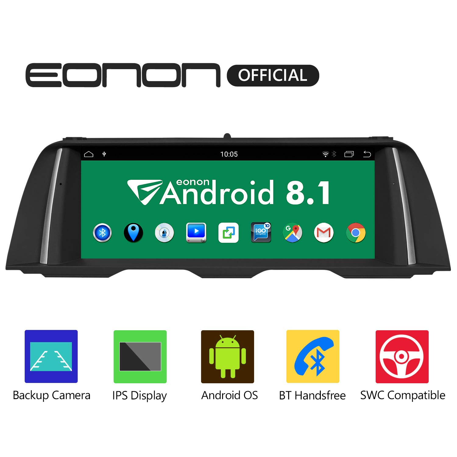 eonon GA9204NB Android 8 1 fit BMW F10 F11 (2013-2016) NBT