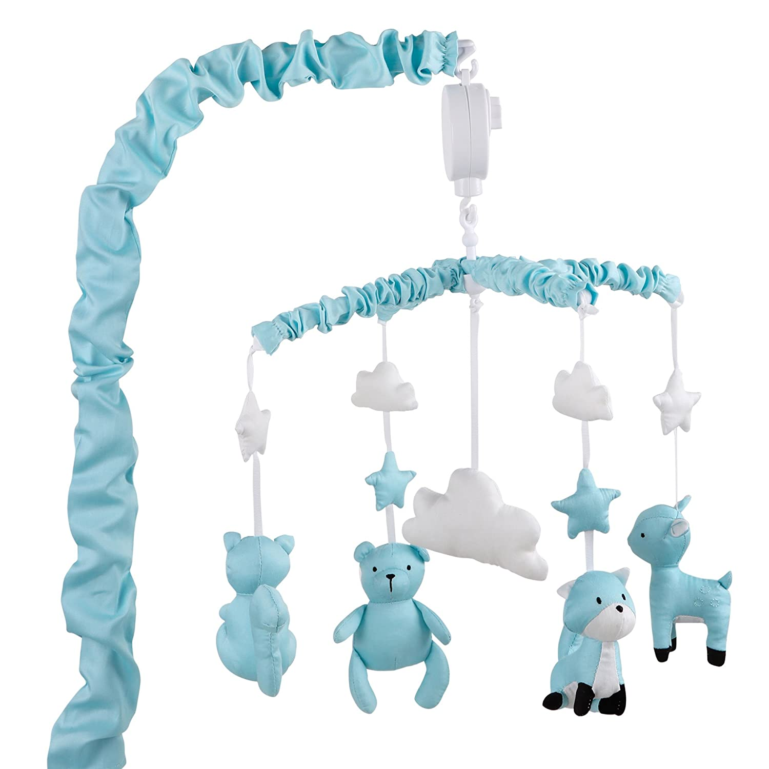 Uptown Girl Grey Giraffe and Clouds Musical Mobile by The Peanut Shell MMGFCL