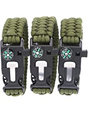 3 Bears BoyScout Outdoor Survival Paracord Bracelet with Compass Fire  Starter and Emergency Whistle db638abb7e4