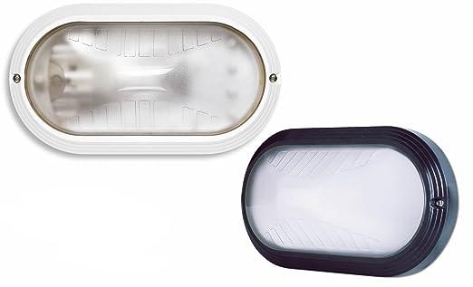 Plafoniere Ovali Da Esterno : Plafoniera ovale da giardino esterno palpebra w bianca