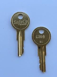 J203 2-Keys For Better Built Tool Box Key Code Series J201 thru J220 SafeCo Brands