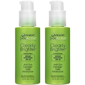 Garnier SkinActive SPF 30 Face Moisturizer with Vitamin C, 2.5 Fl Oz, Pack of 2