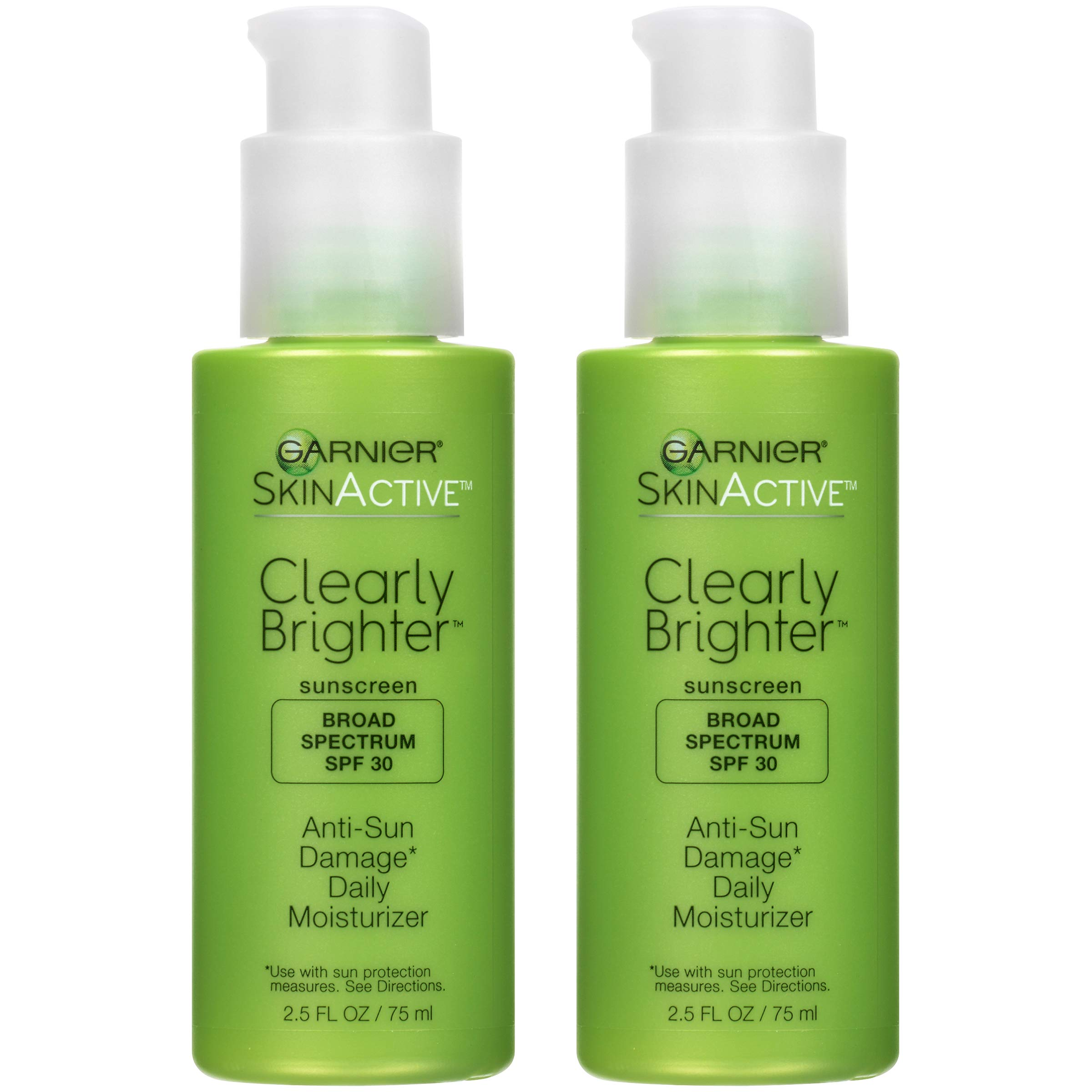 Garnier SkinActive SPF 30 Face Moisturizer with Vitamin C, Clearly Brighter , 2.5 Fl Oz, Pack of 2