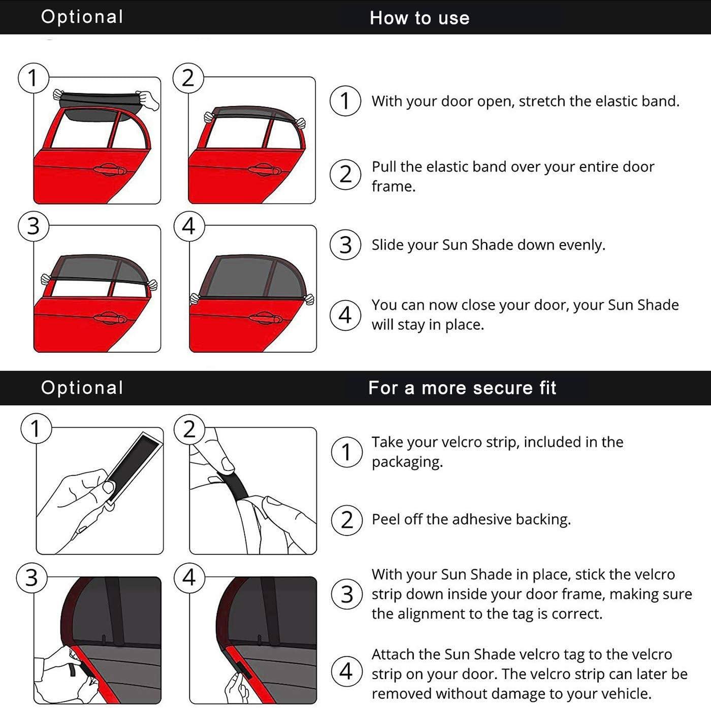Auto Sonnenschutz Gxhong Universal Car Window Shades Uv Strahlen Blockieren Anti Mücken Und Staubschutzmittel Car Window Sun Shades Schützen Kinder Und Haustiere Vor Sonne Geeignet Für 98 Car Auto
