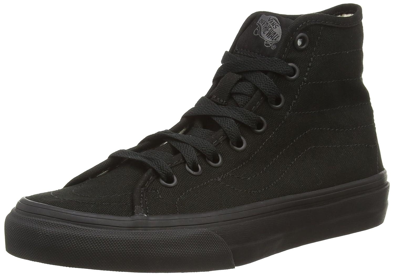 Vans U SK8-HI Unisex-Erwachsene Hohe Sneakers  38.5 EU Schwarz ((Canvas) Black/Black)