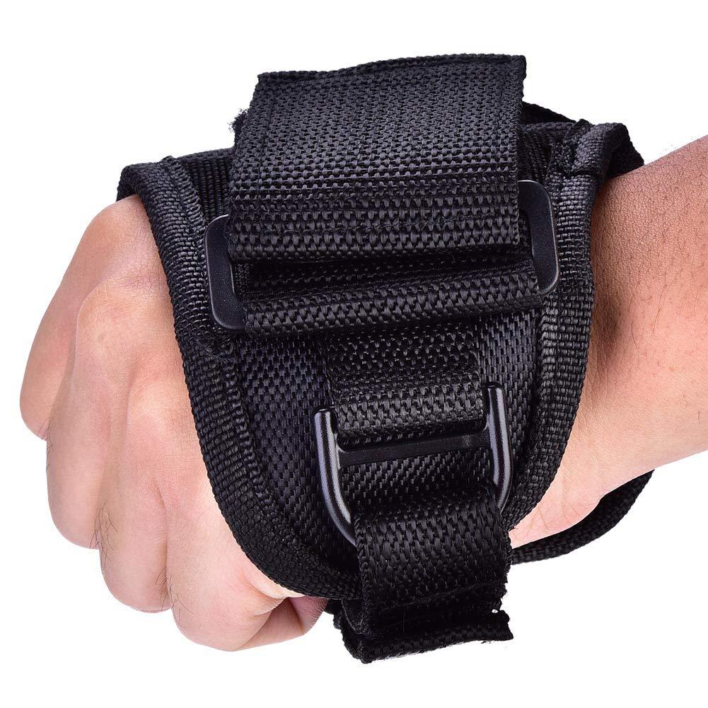 Scuba Gloves - Accessorio subacqueo per il guanto con porta torcia a luce pulsata portatile nero resistente DGTRHTED