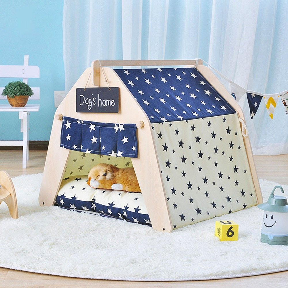 3 L 3 L YQQ Pet Tent Cute Beautiful Pet Bed Small Dog Pet House Removable and Washable Pet Supplies Autumn and Winter Thick Mat 6 Styles (color   03, Size   L)