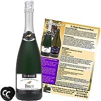 ST. REGIS Brut Sparkling Non-Alcoholic Champagne Wine Experience Bundle with Chromacast Pop Socket, Seasonal Wine Pairings & Recipes