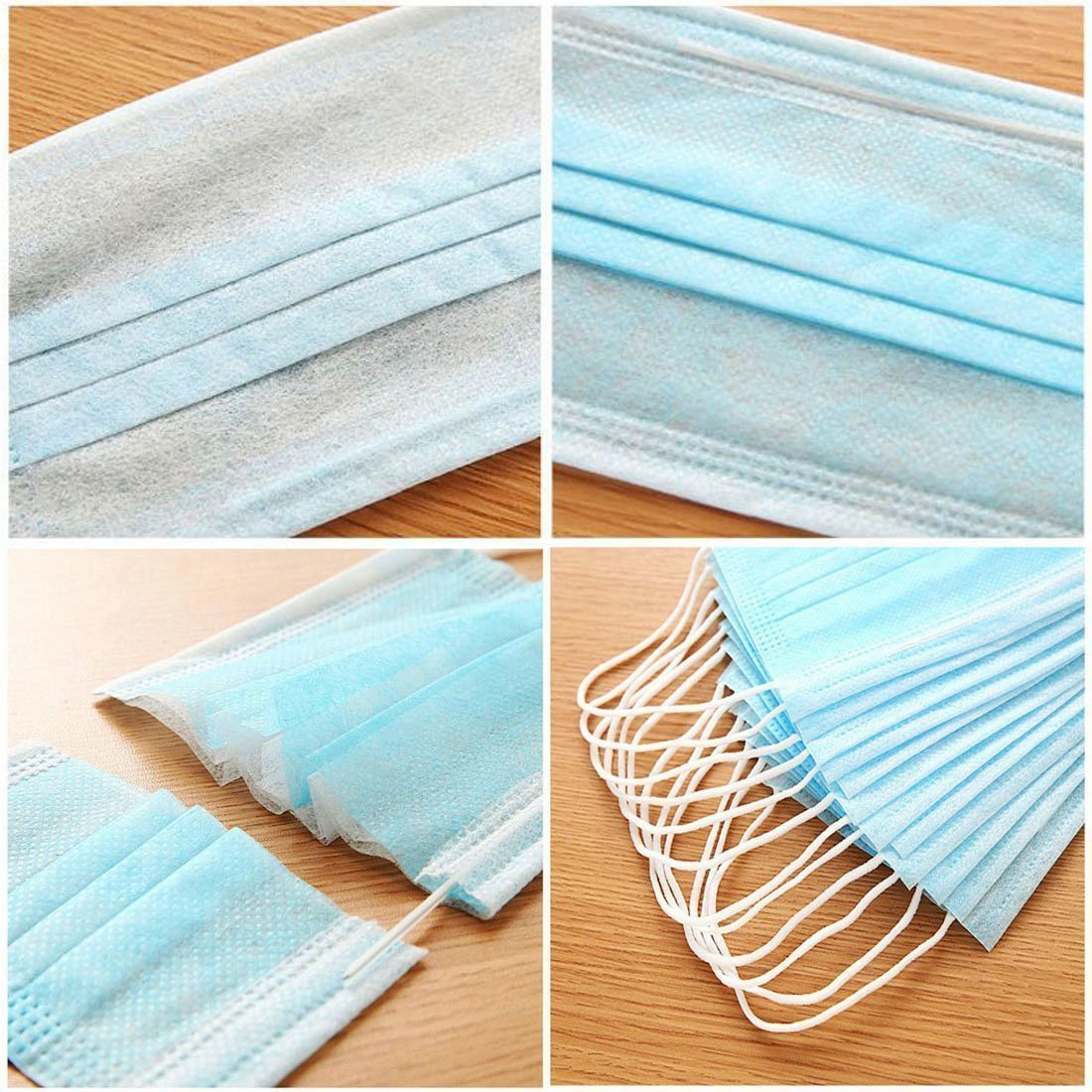 Face Mask Disposable 2 Ply With Elastic (Pkt of 100 pcs) by wonder wagon