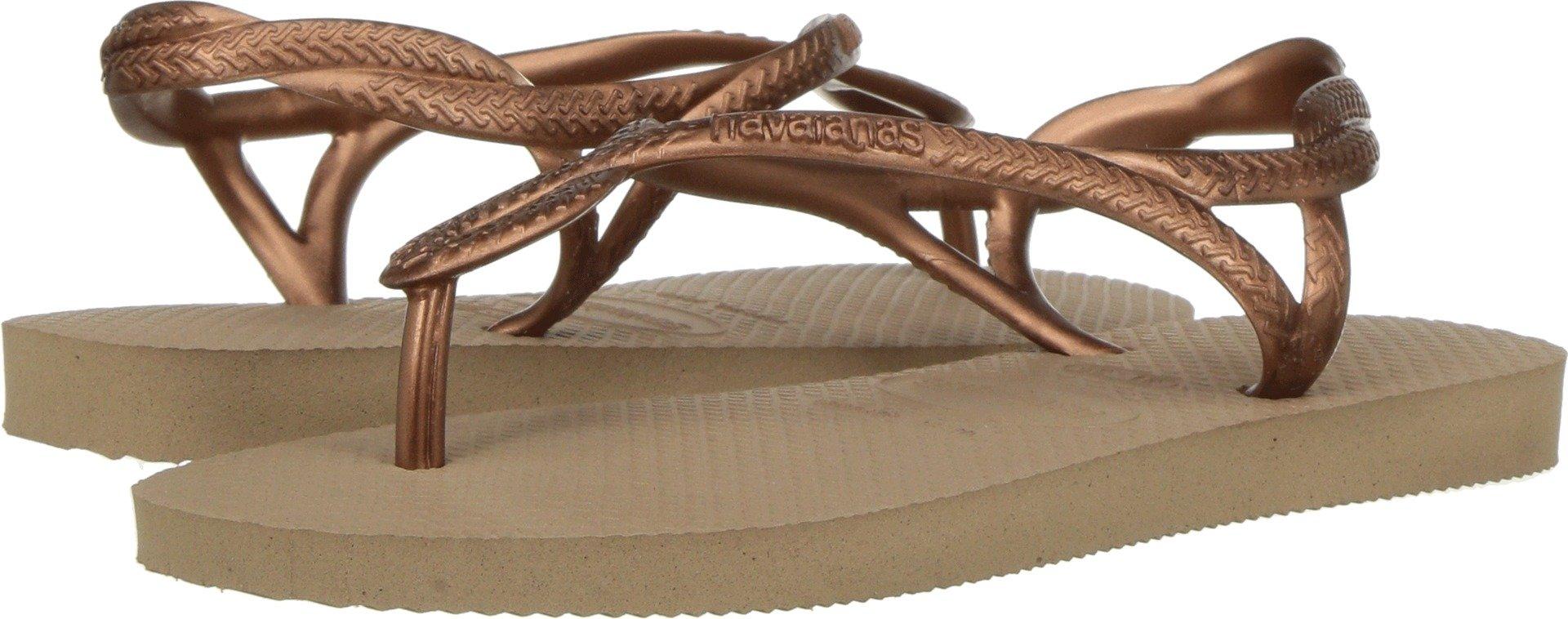 Havaianas Kids Girl's Luna Sandals (Little Kid/Big Kid) Rose Gold 31-32 M EU