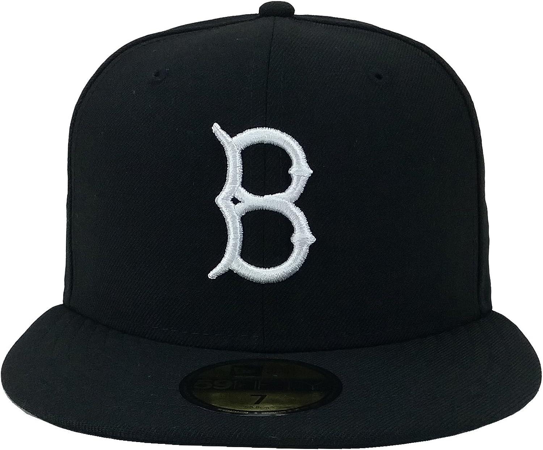 really cheap buy best quality Amazon.com: New Era 59Fifty Hat Brooklyn Dodgers MLB Black/White ...