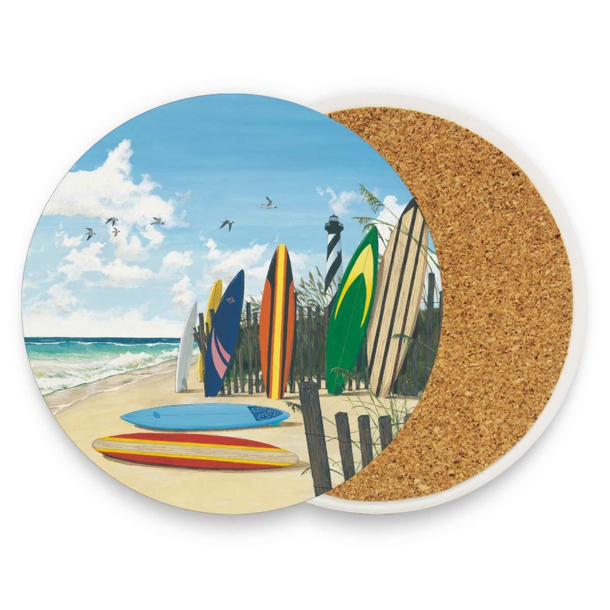 Montoj - Posavasos absorbentes para bebidas, diseño de tabla de surf ...