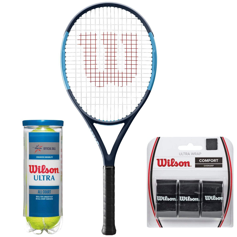 Wilson Ultra Wrap Black Comfort Overgrip Tennis Racket 3 Pack Sporting NEW
