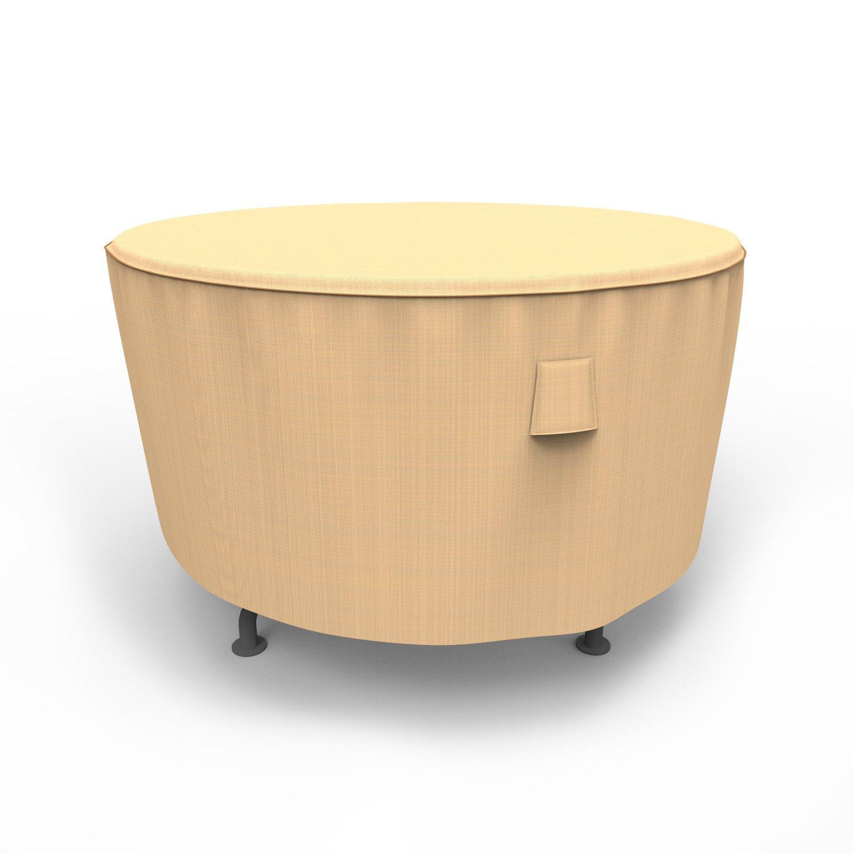 Budge Chelsea Round Patio Table Cover, Medium (Tan)