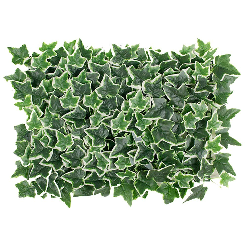 GAIGAI 16 * 24 ''人工芝壁、プラスチックプライバシーフェンススクリーンホワイトサツマイモの葉の草の生垣パネルマット屋内屋外トピアリー装飾偽植物壁、誕生日の背景、装飾、2色、20個 (Color : Green) B07SDNRDLQ Green