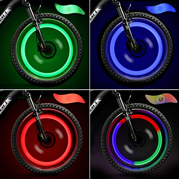 TAGVO 4pcs luz de radios de Bicicleta, fácil instalación Luces de ...