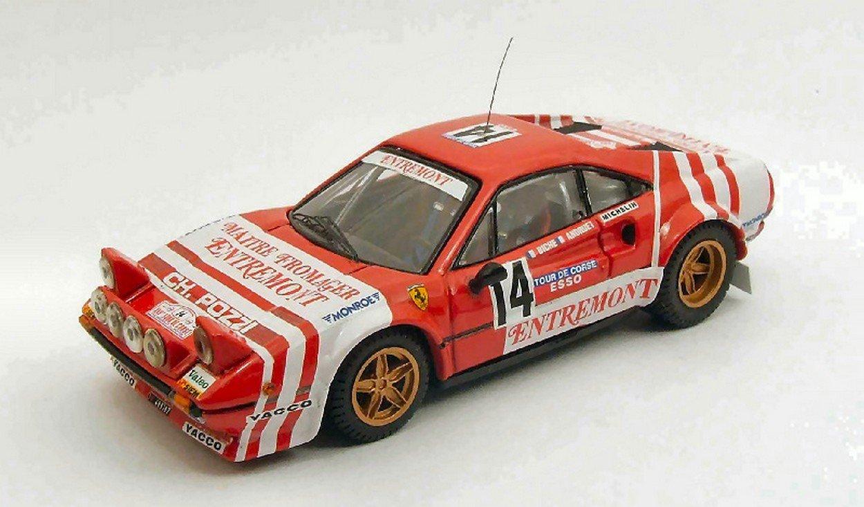 BEST BT9446 FERRARI 308 GTB GR.4 N.14 T.DE CORSE 1981 ANDREUT/BICHE 1:43 MODEL