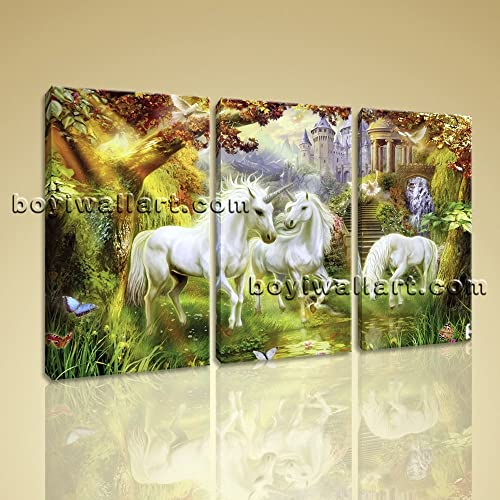 Amazon.com: Large Unicorn Horse Canvas Art Classic Wall Decor ...