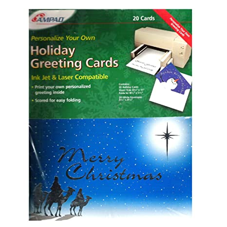 amazon com 20 ampad personlize your own holiday greeting cards