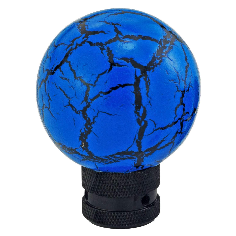 Blue Thunder Pattern Ball Shape MT Car Stick Shift Knob Fit Most Automatic Manual Vehicles Thruifo Gear Shifter Head
