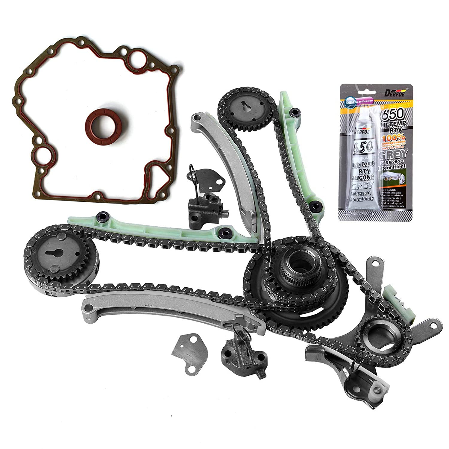 in INEEDUP Timing Chain Kits Fit for 2005 2006 2007 2008 Dodge Ram 1500 4.7L 285Cu V8 Gas SOHC Naturally Aspirated