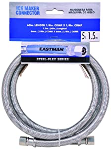 "Eastman 41033 Stainless steel Icemaker Connector 1/4"" Comp x 1/4"" Comp x 60"" length - Stainless Steel - 12 Pack"