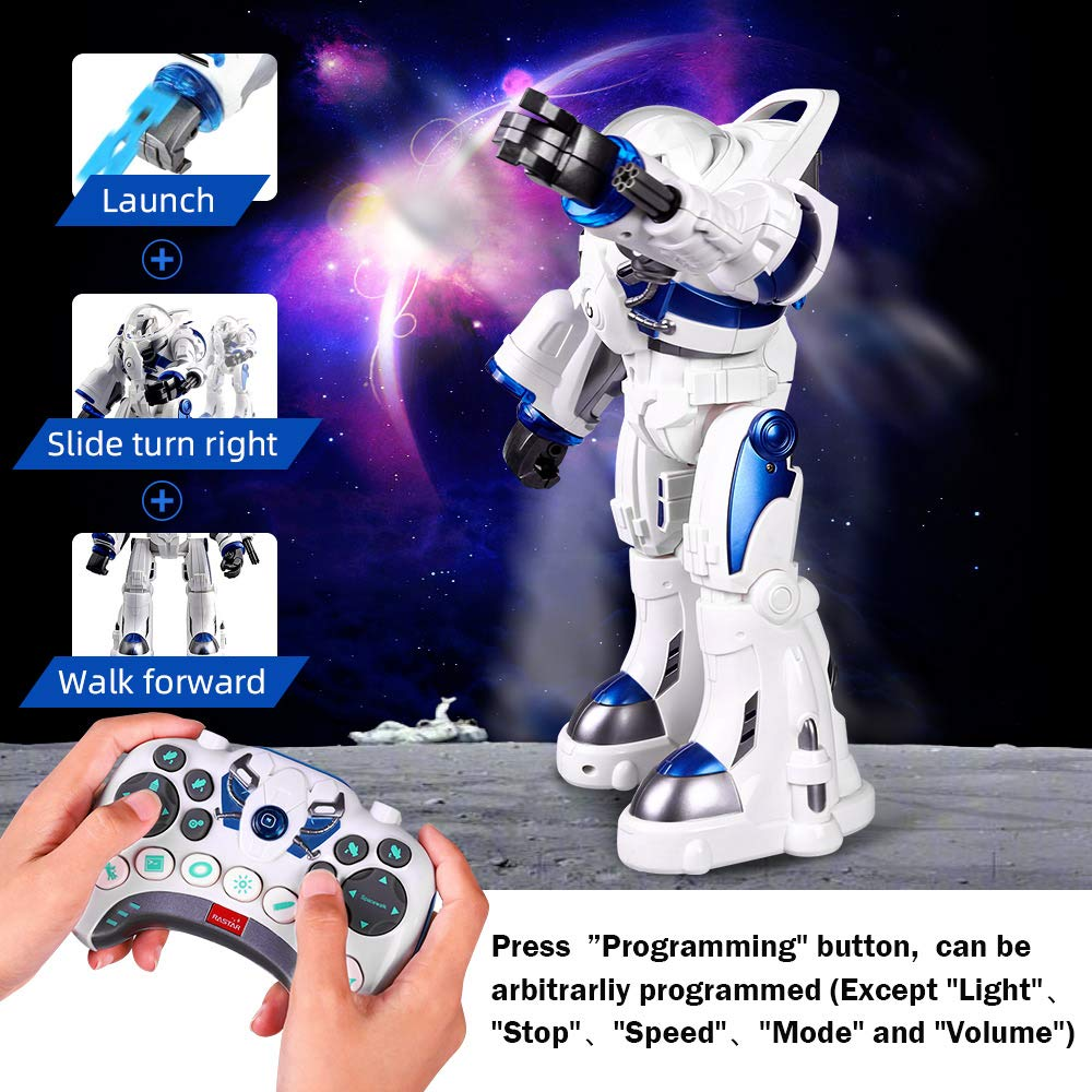 KINGBOT Robot Toy,Spaceman RC Robot Remote Control Robots Toys with Programmable Interactive Walking Singing Dancing for Kids Boys Girls Gifts by KINGBOT (Image #4)
